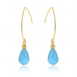 Cuties Earrings Blue Gold