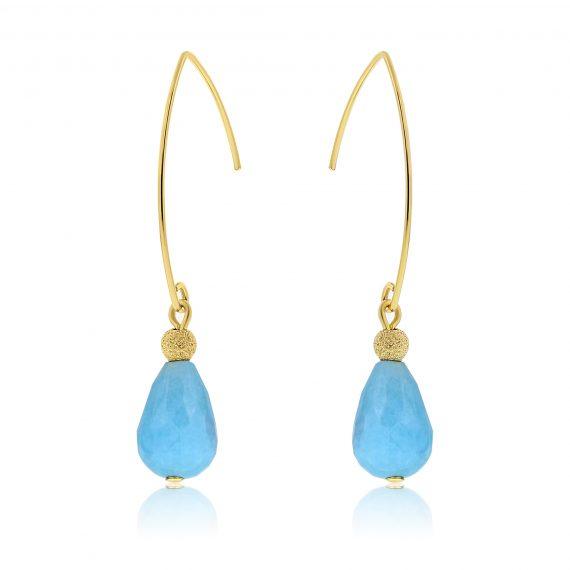 Cuties Earrings Blue Gold