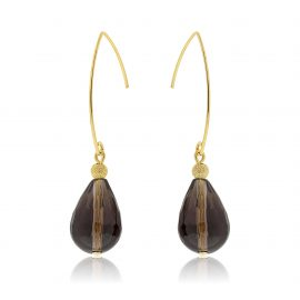 Cuties Earrings Brown Gold