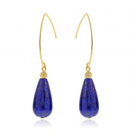 Cuties Earrings Dark Blue Gold