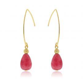 Cuties Earrings Pink Gold