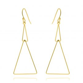 Earrings Double Triangle Gold