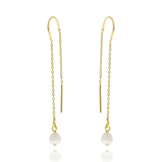 Subtle Pearl Earrings Gold