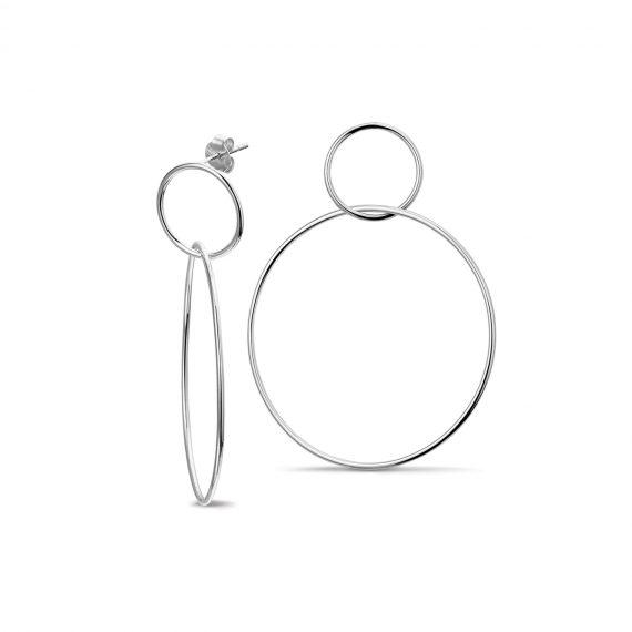 Oorbellen Rondjes Zilver 2