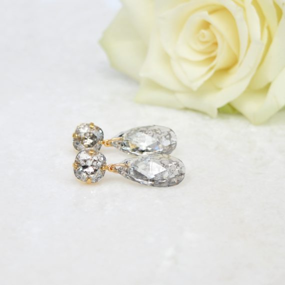 Still Double Glamour Earrings Crystal