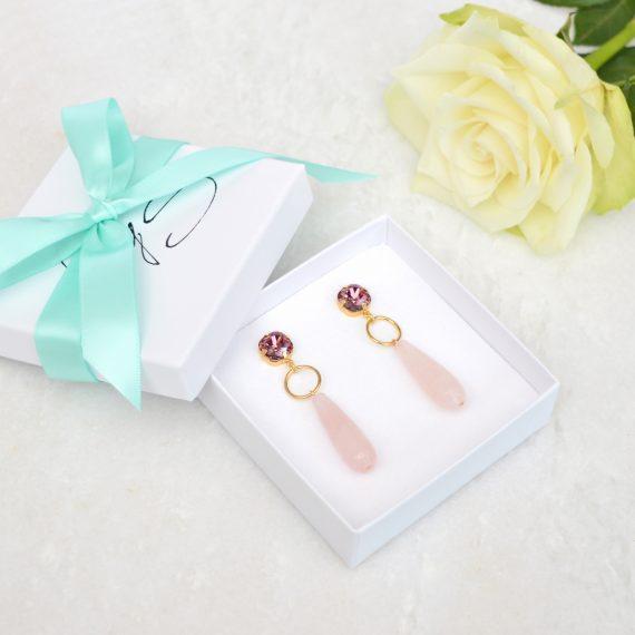Still Luxury Earrings Pink Gold