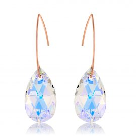 Earrings Glamour Crystal AB Rose