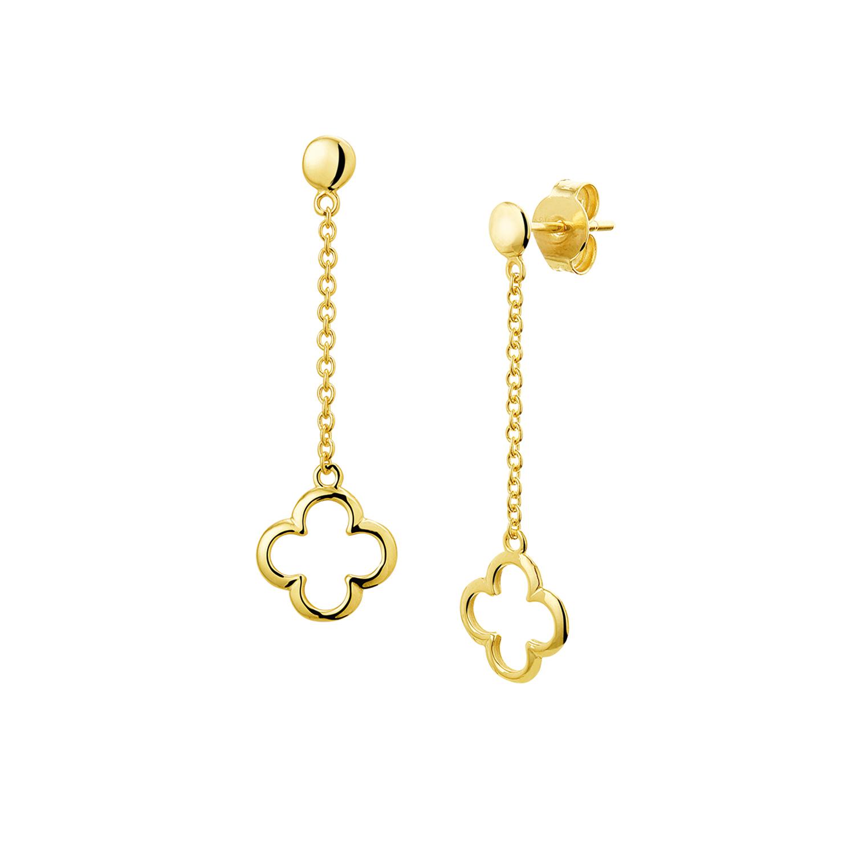 7edcb7b81da Oorbellen Lang Klaver 14K Goud – Jewellery by Sophie
