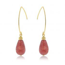 Cuties Earrings Old Pink Goldplated