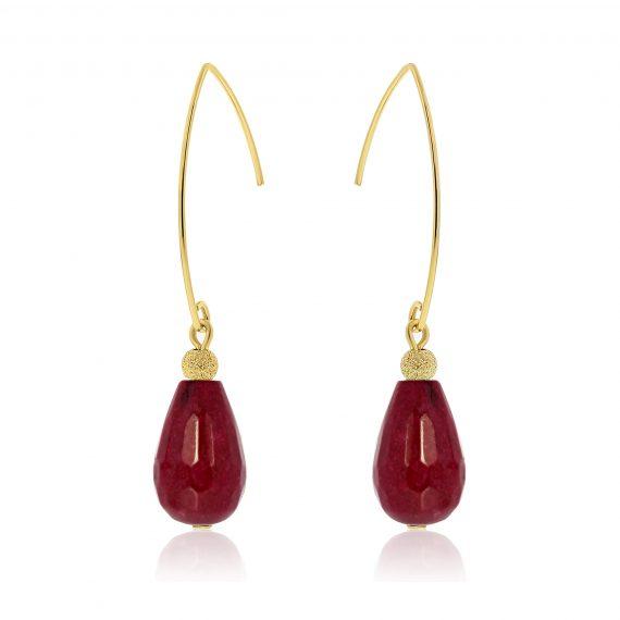 Cuties Earrings Oxblood Goldplated