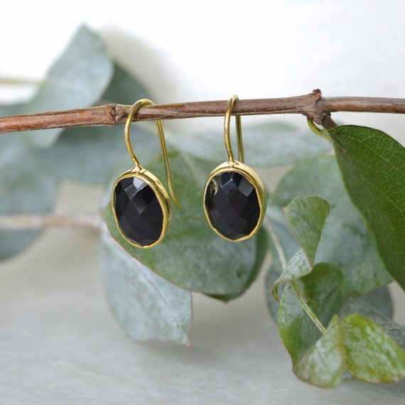 Little Earrings Black Gold