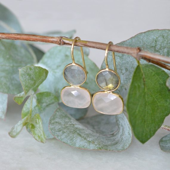 Little Earrings Pink Gold