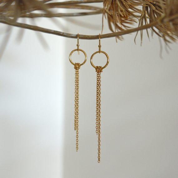 Long Earrings Goldplated