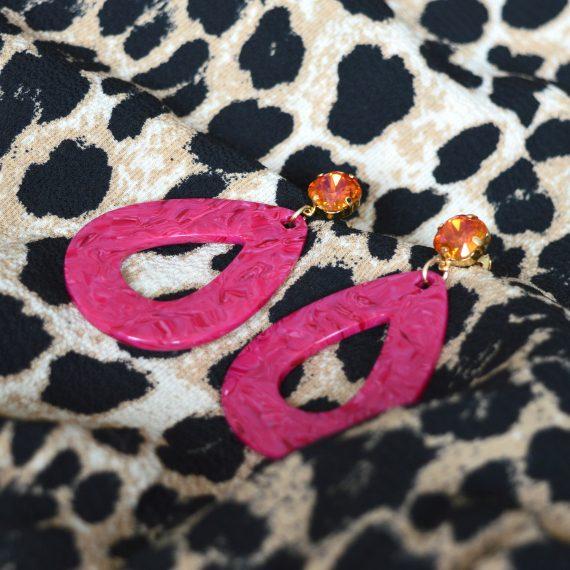 Big Earrings Fuchsia