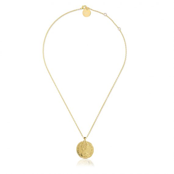 Necklace Pence Gold Long