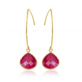 Stylish Earrings Fuchsia