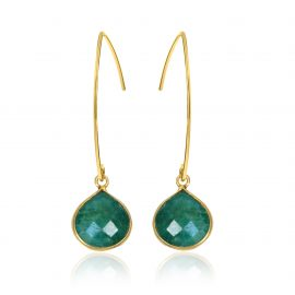 Stylish Earrings Green