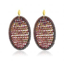 Beads Earrings Bordeaux