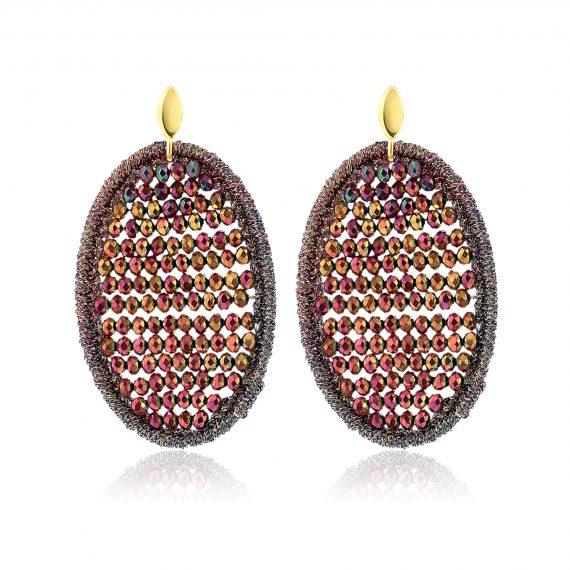 Beads Earrings Bordeaux