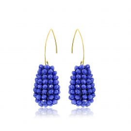 Disco Ball Earrings Blue