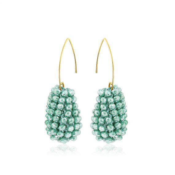 Disco Ball Earrings Mint