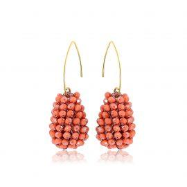 Disco Ball Earrings Orange