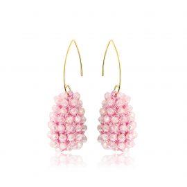 Disco Ball Earrings Pink