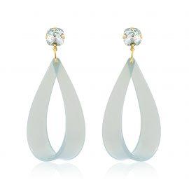 Hollywood Earrings Baby Blue