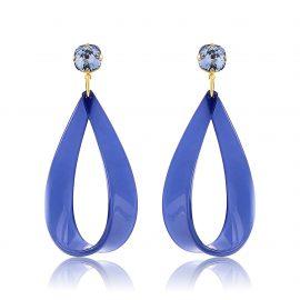 Hollywood Earrings Blue