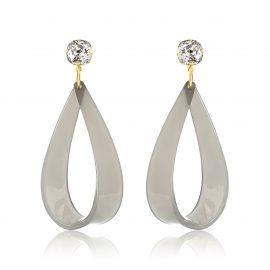 Hollywood Earrings Grey