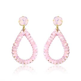 Showtime Earrings Pink Goldplated