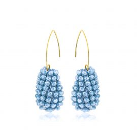 Disco Ball Earrings Baby blue
