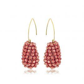 Disco Ball Earrings Red