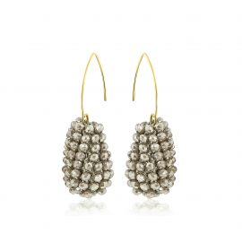 Disco Ball Earrings Taupe