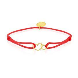 Satin Bracelet Hearts Red