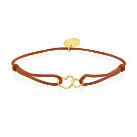 Satin Bracelet Hearts Roest