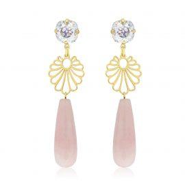 Diva Earrings Pink Goldplated