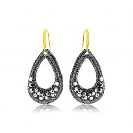 Earrings Festive Grey