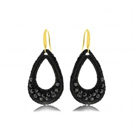 Earrings Festive Black